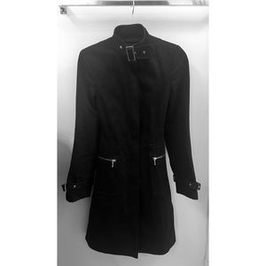 Banana Republic Long Black Trench Coat